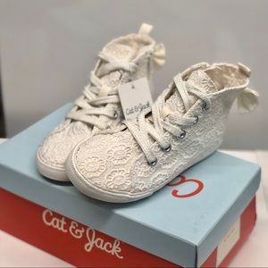 Cat & Jack eyelet high-top Shoes